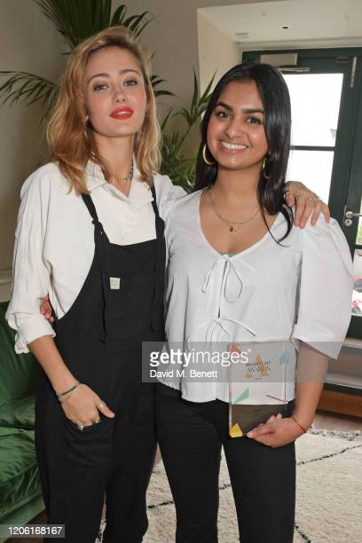 Ella Purnell and Amika George winner of the Next Gen Award attend AllBright's inaugural BrightList Awards 2020 at allfemale members club The...