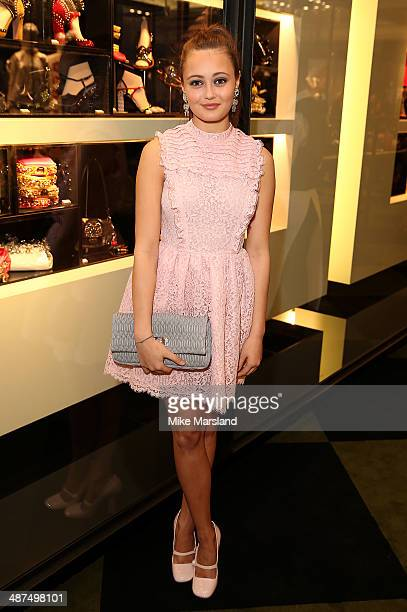 Ella Purnell attends PRADASPHERE at Harrods on April 30 2014 in London England
