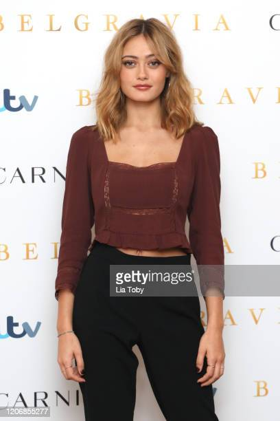 Ella Purnell attends the Belgravia photocall at Soho Hotel on February 17 2020 in London England