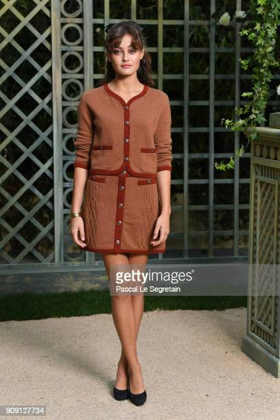 Ella Purnell attends the Chanel Haute Couture Spring Summer 2018 show as part of Paris Fashion Week on January 23 2018 in Paris France