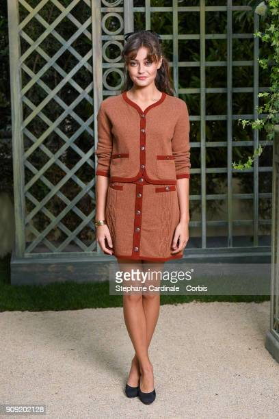 Ella Purnell attends the Chanel Haute Couture Spring Summer 2018 show as part of Paris Fashion Week January 23 2018 in Paris France