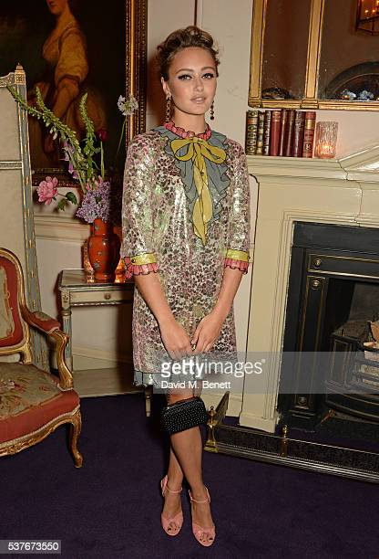 Ella Purnell attends the Gucci party at 106 Piccadilly in celebration of the Gucci Cruise 2017 fashion show on June 2 2016 in London England