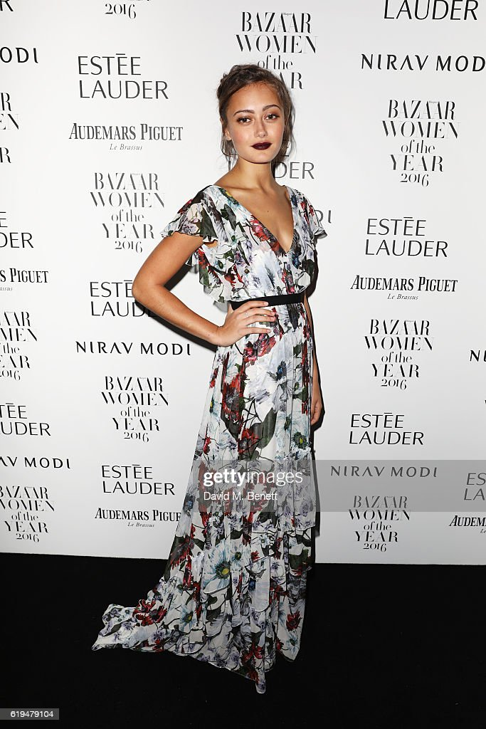 Ella Purnell attends the Harper's Bazaar Women of the Year Awards 2016 at Claridge's Hotel on October 31, 2016 in London, England.