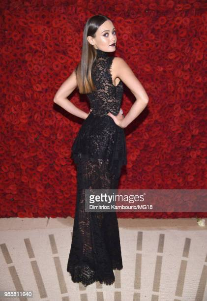 Ella Purnell attends the Heavenly Bodies Fashion The Catholic Imagination Costume Institute Gala at The Metropolitan Museum of Art on May 7 2018 in...