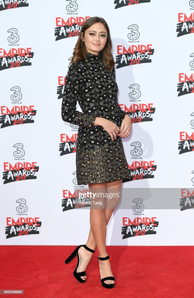 Ella Purnell attends the THREE Empire awards at The Roundhouse on March 19, 2017 in London, England.