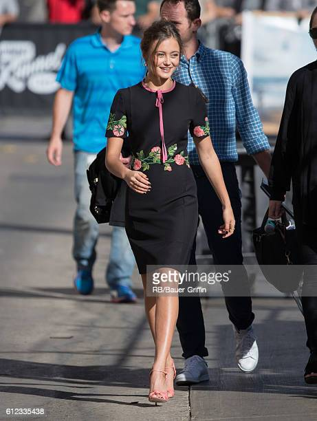 Ella Purnell is seen at 'Jimmy Kimmel Live' on October 03 2016 in Los Angeles California