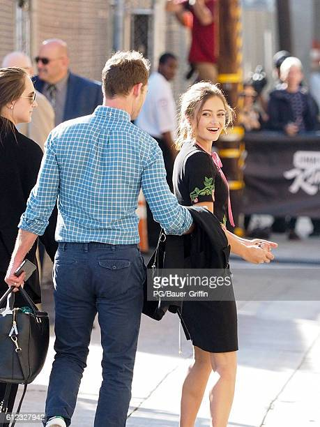 Ella Purnell seen arriving at Jimmy Kimmel Live on October 03 2016 in Los Angeles California