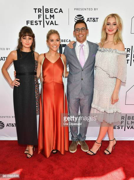 Ella Purnell Stephanie Danler Stuart Zicherman and Caitlin FitzGerald attend the screeing of Sweetbitter during the 2018 Tribeca Film Festival at SVA...