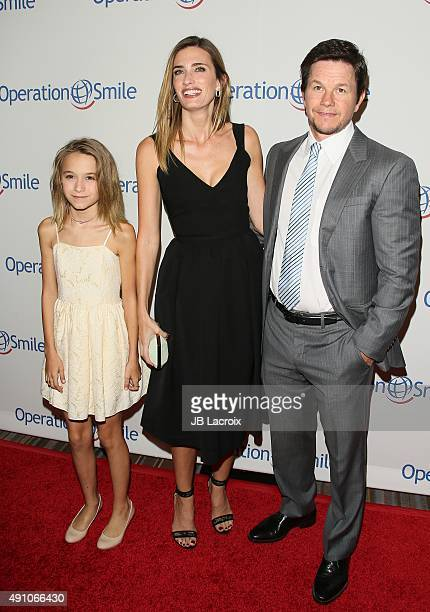 Ella Rae Wahlberg Rhea Durham and Mark Wahlberg attend Operation Smile's 2015 Smile Gala event held at The Beverly Wilshire Four Seasons Hotel on...