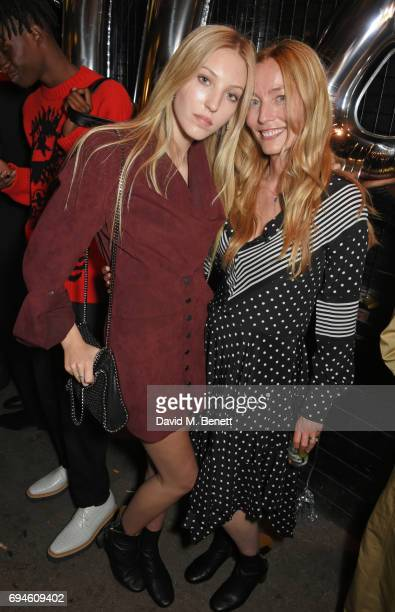 Ella Richards and Lucie de la Falaise attend a celebration of the Stella McCartney AW17 collection and film launch at Ye Olde Mitre on June 10 2017...