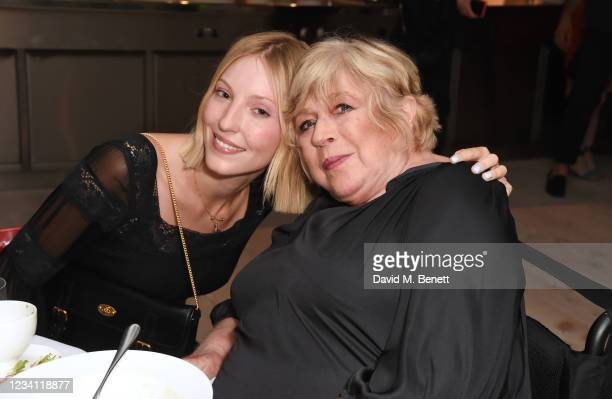 Ella Richards and Marianne Faithfull attend the launch of the Mulberry x Alexa Chung collection at 180 Studios on July 22, 2021 in London, England.