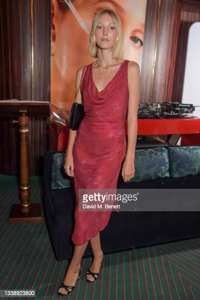 Ella Richards attends the launch of Olympia of Greece & The Organic Pharmacy Glow collaboration at Isabel on September 07, 2021 in London, England.