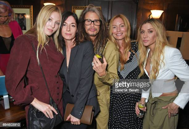 Ella Richards Mary McCartney Steven Tyler Lucie de la Falaise and Aimee Ann Preston attend a celebration of the Stella McCartney AW17 collection and...