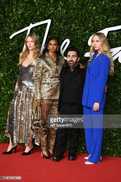 Ella Richards Ramla Ali Mulberry Creative Director Johnny Coca and Elfie Reigate arrive at The Fashion Awards 2019 held at Royal Albert Hall on...