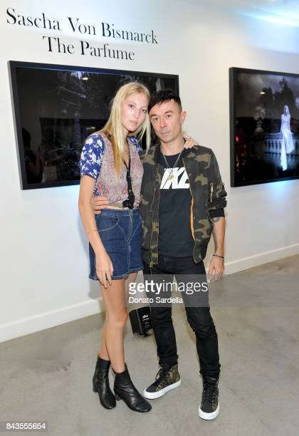 Ella Richards Robbie Furze and celebrity floral and fragrance designer Eric Buterbaugh attend the private opening of Sascha von Bismarck debut...