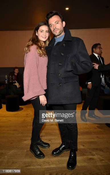 Ella Rose Morris and Jolyon Rubinstein attend the Motherless Brooklyn BAFTA screening reception at Vue Leicester Square on November 21 2019 in London...