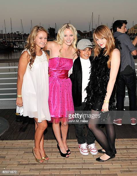 Ella Sinise Greer Grammer and Jansen Panettiere attend Jillian Clare's 16th Birthday Party on July 25 2008 at Rainbow Harbor aboard the Harbor Breeze...