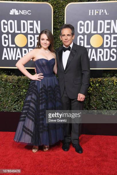Ella Stiller and Ben Stiller attend the 76th Annual Golden Globe Awards at The Beverly Hilton Hotel on January 6, 2019 in Beverly Hills, California.