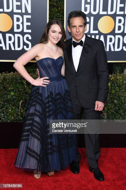 Ella Stiller and Ben Stiller attend the 76th Annual Golden Globe Awards at The Beverly Hilton Hotel on January 6 2019 in Beverly Hills California