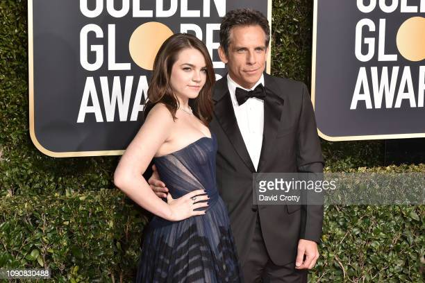 Ella Stiller and Ben Stiller attend the 76th Annual Golden Globe Awards at The Beverly Hilton Hotel on January 06, 2019 in Beverly Hills, California.
