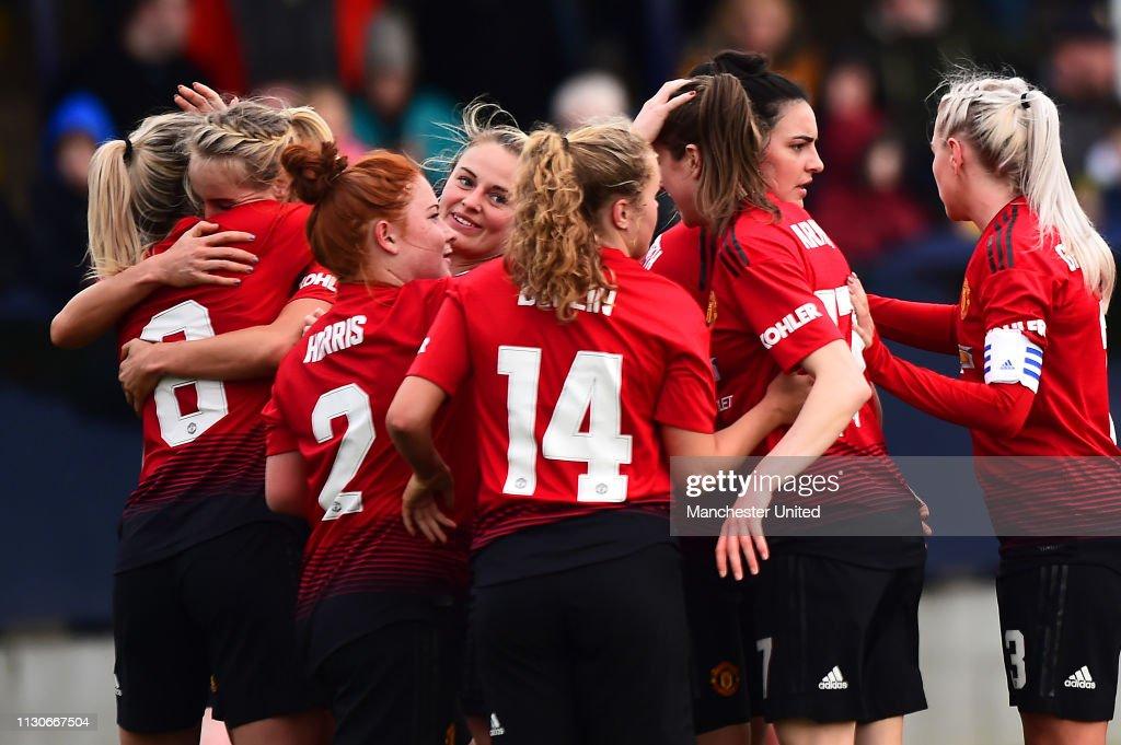 GBR: Manchester United Women v London Bees - FA Women's Championship