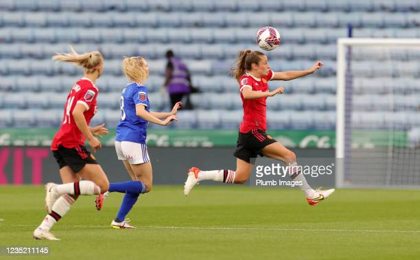Ella Toone of Manchester United Women during the Barclays FA Women's Super League match between Leicester City Women and Manchester United Women at...