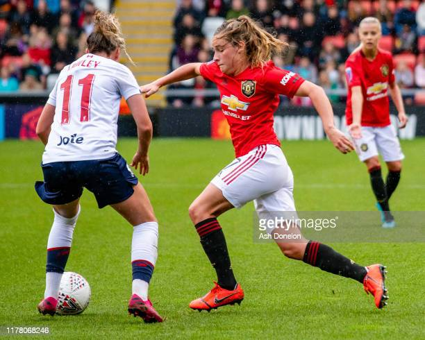 Ella Toone of Manchester United Women in action during the Barclays FA Women's Super League match between Manchester United and Liverpool at Leigh...