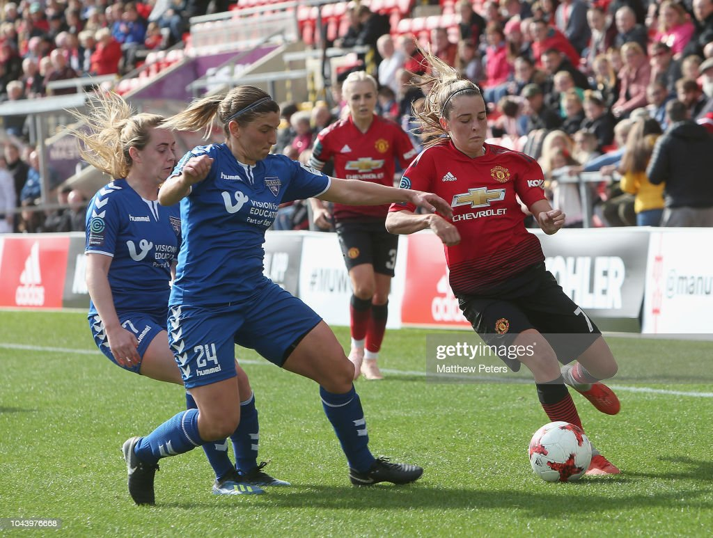 Manchester United Women v Durham Women: FA Continental Tyres League Cup : Nieuwsfoto's