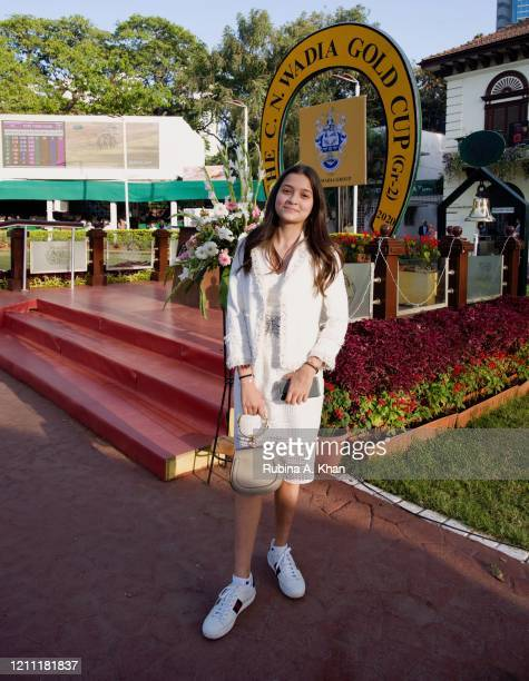 Ella Wadia at the CN Wadia Gold Cup 2020 Race Day at the Royal Western India Turf Club on March 08, 2020 in Mumbai, India.
