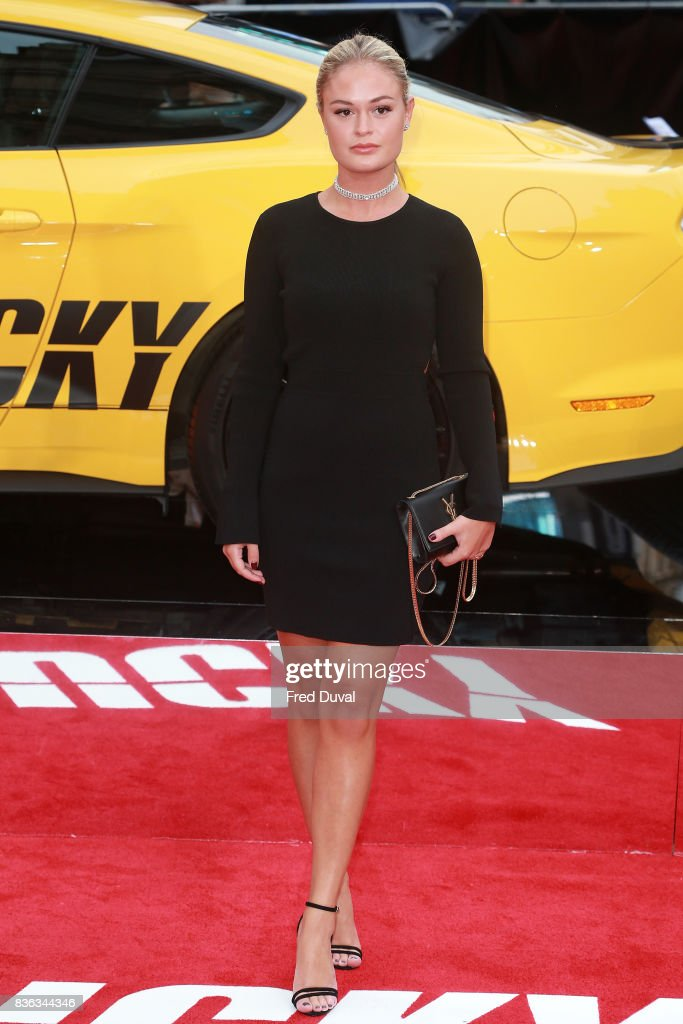 Ella Willis arrives at the 'Logan Lucky' UK premiere held at Vue West End on August 21, 2017 in London, England.