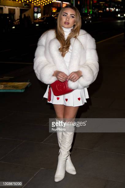 Ella Wise attends Only Fools and Horses The Musical 1st Birthday Party Red Carpet Arrivals at the Theatre Royal Haymarket London on February 27 2020