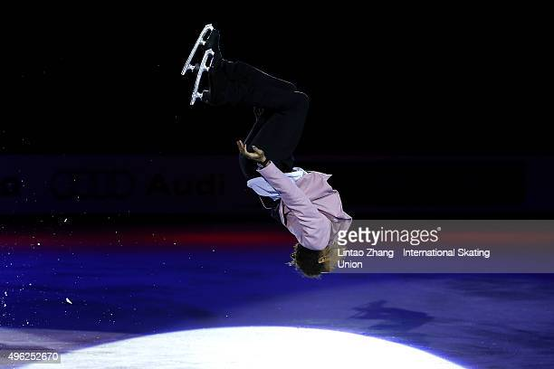 Elladj Balde of Canada performs during the Exhibition Program on day three of Audi Cup of China ISU Grand Prix of Figure Skating 2015 at Beijing...