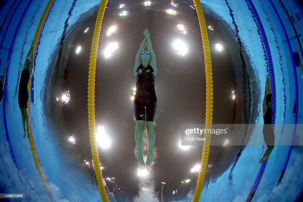 British Gas Swimming Championships - LOCOG Test Event for London 2012: Day One : News Photo