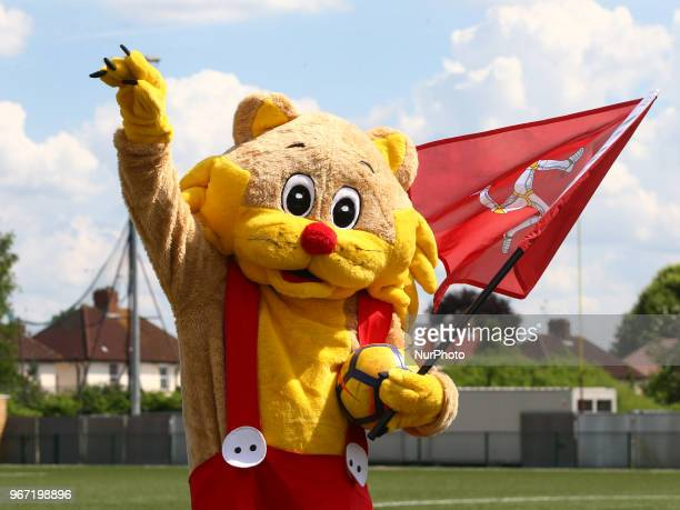 Ellan Vannin Mascot during Conifa Paddy Power World Football Cup 2018 Group A match between Barawa against Ellan Vannin at Coles Park Stadium London...