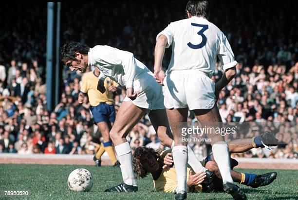 Elland Road Leeds Leeds United's defender Norman Bites Yer Legs Hunter fouls an opposing player circa 1970