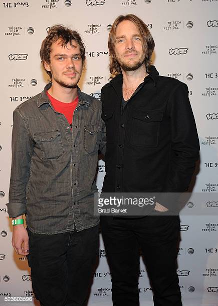 Ellar Coltrane and codirector Kevin Ford attend the bomb Photo Opportunity during the 2016 Tribeca Film Festivalat Gotham Hall on April 23 2016 in...