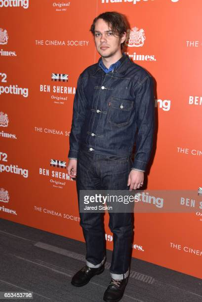 Ellar Coltrane attends TriStar Pictures The Cinema Society Host a Screening of T2 Trainspotting at Landmark Sunshine Cinema on March 14 2017 in New...