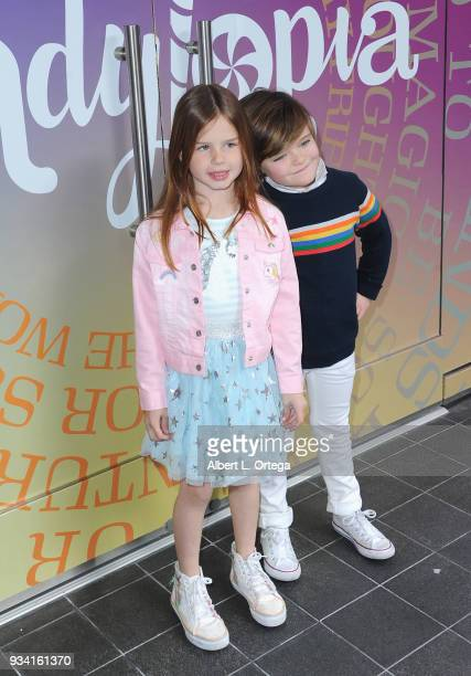 Ellarose Kaylor and Harlo Haas participate in Talent Day At Candytopia held at Santa Monica Place on March 18 2018 in Santa Monica California