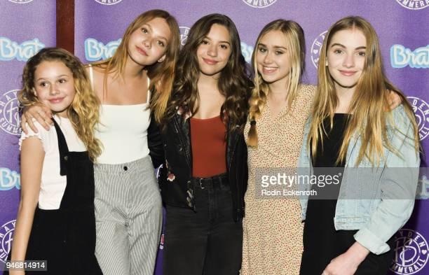 Ellarose Kaylor Nadia Turner Kenzie Ziegler Emily Skinner and Lauren Orlando attend Hayden Summerall's 13th Birthday Bash at Bardot on April 15 2018...
