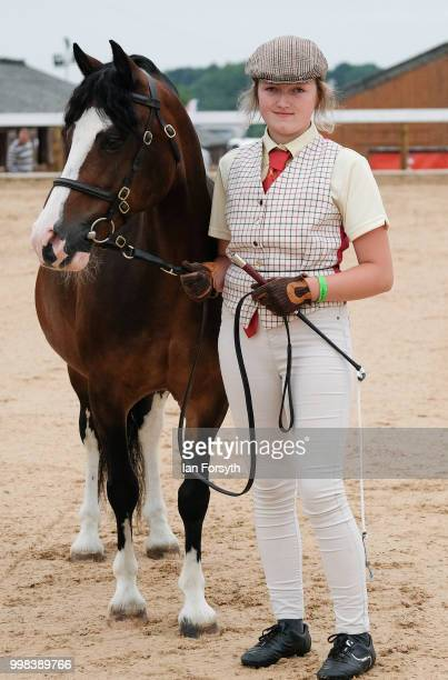 Ellaruth Ibbetson from Northallerton stands with her horse Carlgate Princess Lilly during the final day of the 160th Great Yorkshire Show on July 12...