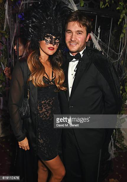 Elle Caring and Ben Caring attend Halloween at Annabel's at 46 Berkeley Square on October 29 2016 in London England