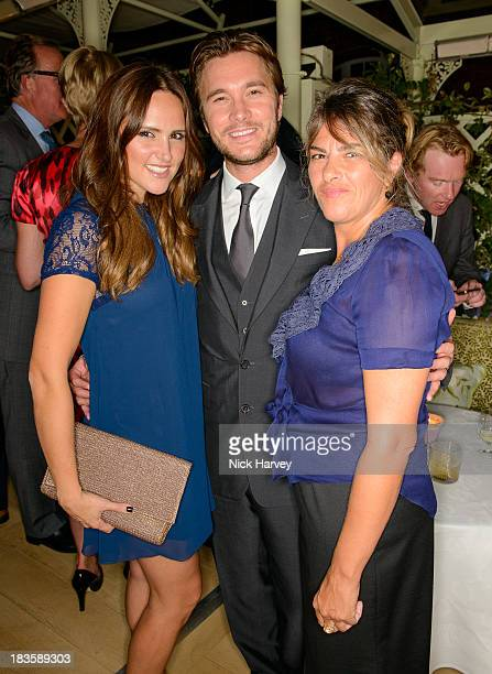 Elle Caring Ben Caring and Tracey Emin attend Nicola and James Stephenson Tracey Emin and Johnny Bergius VIP Party at Mark's Club on October 7 2013...