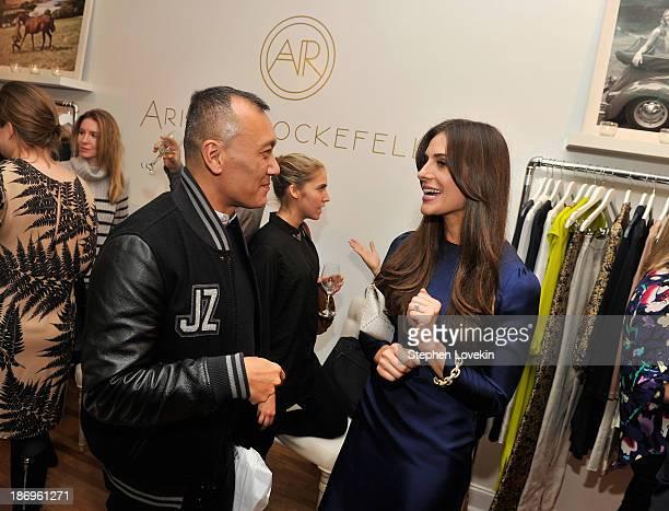 Elle creative director Joe Zee and designer Ariana Rockefeller attend the private reception celebrating the opening of the Ariana Rockefeller Popup...