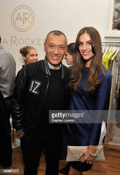 Elle creative director Joe Zee and designer Ariana Rockefeller attend the private reception celebrating the opening of the Ariana Rockefeller Popup...