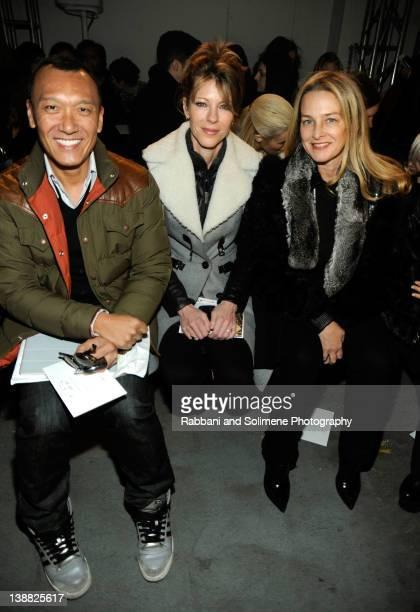 Elle Creative Director Joe Zee EditorinChief of Elle magazine Robbie Myers and Senior Vice President of Bloomingdales Audrey Nizen attend the Derek...