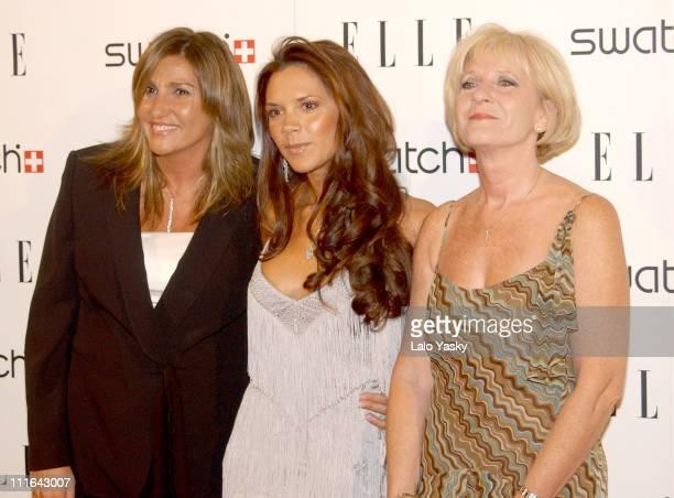 Elle Director Susana Martinez Vidal, Victoria Beckham and her mother