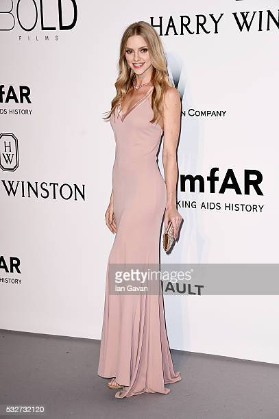 Elle Evans arrives at amfAR's 23rd Cinema Against AIDS Gala at Hotel du CapEdenRoc on May 19 2016 in Cap d'Antibes France