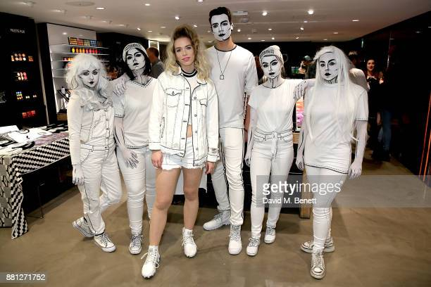 Elle Exxe attends the launch of singer Elle Exxe's new music video at MAC Carnaby Street on November 28 2017 in London England