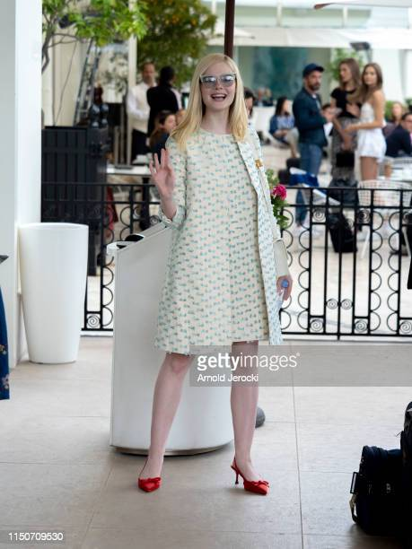 Elle Faning is seen at the Martinez hotel during the 72nd annual Cannes Film Festival on May 21 2019 in Cannes France