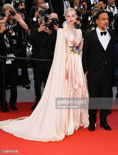 Elle Fanning and Alejandro Gonzalez Inarritu attend the opening ceremony and screening of The Dead Don't Die during the 72nd annual Cannes Film...